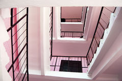 Pink stairs. Stock Photos