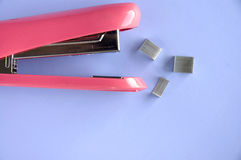Pink stapler Royalty Free Stock Photo