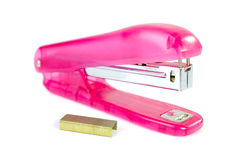 Pink stapler Stock Photography