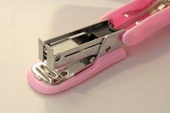 Pink stapler tool Stock Photos