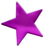 Pink star. On a white background Stock Photos