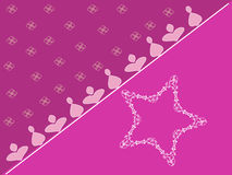 Pink star Stock Photography