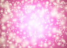 Pink star background Stock Image