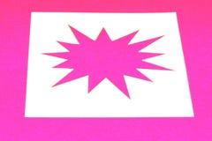 Pink star burst. A pink star burst design on white Stock Photography