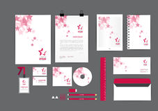 Pink with star corporate identity template  for your business Stock Images