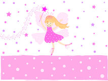 Pink star fairy vector illustration