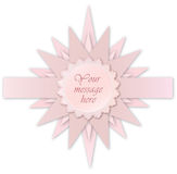 Pink star label. Greeting card for kid bithday or  Royalty Free Stock Images