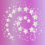 Pink star spiral Royalty Free Stock Images