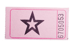 Pink star ticket. A pink star ticket isolated on a white background Stock Image