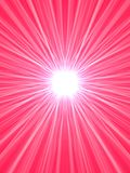 Pink starburst. Abstract pink background with star burst lens flares Stock Photo