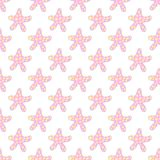 Pink starfish seamless pattern Royalty Free Stock Images