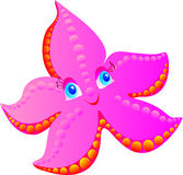Pink starfish on a white. Vector illustration  Royalty Free Stock Photography