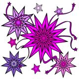Pink stars Stock Images