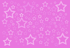 Pink stars background Stock Photography