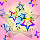 Pink Stars Background Shows Space Astronomy And Celestial Stock Photo