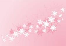 Pink stars banner Stock Image