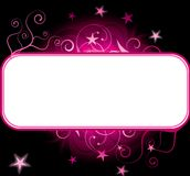 Pink stars copyspace background Stock Image
