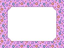 Pink Stars Frame Royalty Free Stock Photo