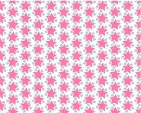 Pink stars gray balls on white background. Star background. vector illustration