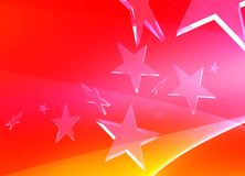 Pink stars on red background. Flying pink stars on red background Stock Image