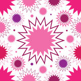 Pink stars seamless pattern Stock Images