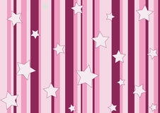 Pink stars and stripes Stock Photography