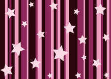 Pink stars and stripes Royalty Free Stock Images