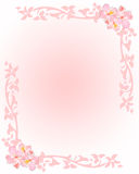 Pink stationery with flowers Royalty Free Stock Photography