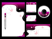 Pink Stationery Set Stock Photography