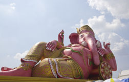 The pink statue of Ganesha Royalty Free Stock Photography
