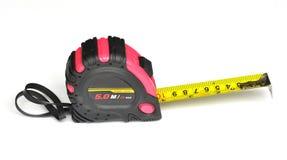 Pink steel tape measure Stock Image