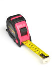 Pink steel tape measure Stock Images