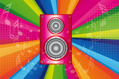 Pink stereo Stock Images