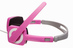 Pink stereo headphones Royalty Free Stock Image