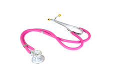 Pink Stethoscope Royalty Free Stock Photography