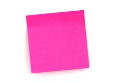 Pink sticker. Isolated pink stiker on the white background royalty free stock photography