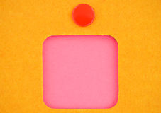 Pink sticker Stock Images