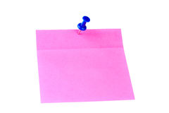 Pink sticker paper Royalty Free Stock Photos