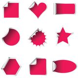 Pink stickers Royalty Free Stock Images