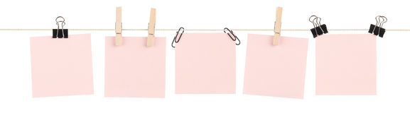 Pink Sticky Note Mashup royalty free stock image