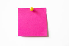 Pink sticky note Royalty Free Stock Images