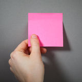 Pink sticky paper Stock Photos