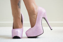 Pink Stilettos Royalty Free Stock Photos