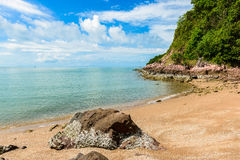 Pink stone Arkose, Arkosic Sandstone near the beach , Pink sto Royalty Free Stock Photography