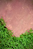 Pink stone and green grass Stock Image
