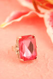 Pink stone ring Royalty Free Stock Image