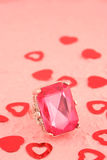Pink stone ring Royalty Free Stock Photography