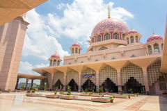 Pink stonned mosque Royalty Free Stock Photos