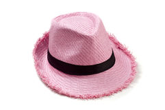 Pink_straw_hat Royalty Free Stock Images