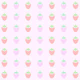 Pink Strawberry Background Pattern Vector EPS10, Great for any use. Stock Photography
